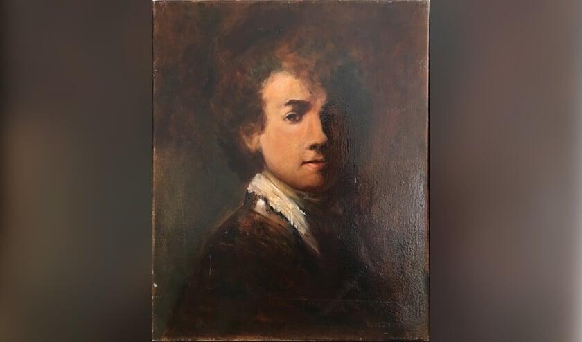 Het schilderij dat de vorig jaar overleden schilder Wil Drieman maakte, is te zien tijdens de tentoonstelling Lang Leve Rembrandt. Foto: pr