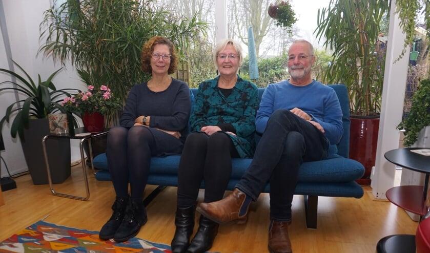 Yt de Jonge, Mieke Krom en Peter van Aken zijn initiatiefnemers van de Voorsche Hof. Foto: VSK