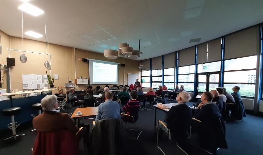 De workshop energietransitie van GroenLinks werd goed bezocht. Foto: GroenLinks Voorschoten