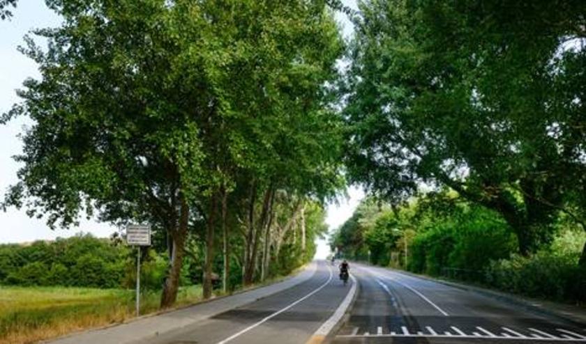 De weg naar het strand wordt bij de Klip afgezet. Foto: Gemeente Wassenaar
