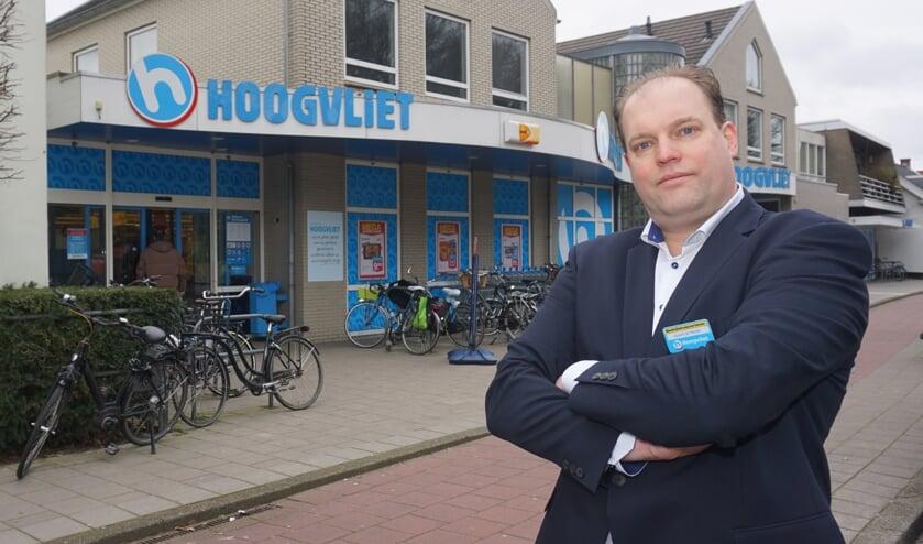Supermarkt manager Sjoerd de Meijer. Foto: VSK