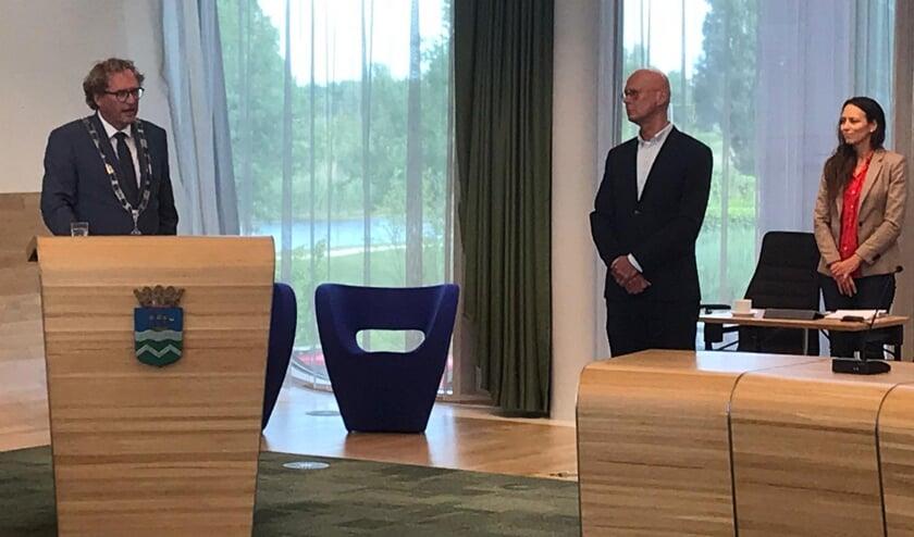 Beediging wethouder Frank ten Have. Foto: Boudewijn Vermeer/WOS