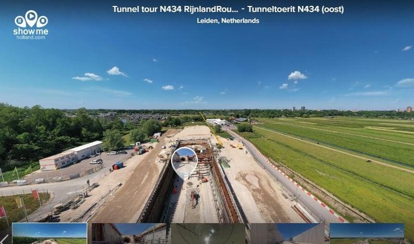 Neem een 360 graden kijkje in de tunnel. Foto: comol5.nl
