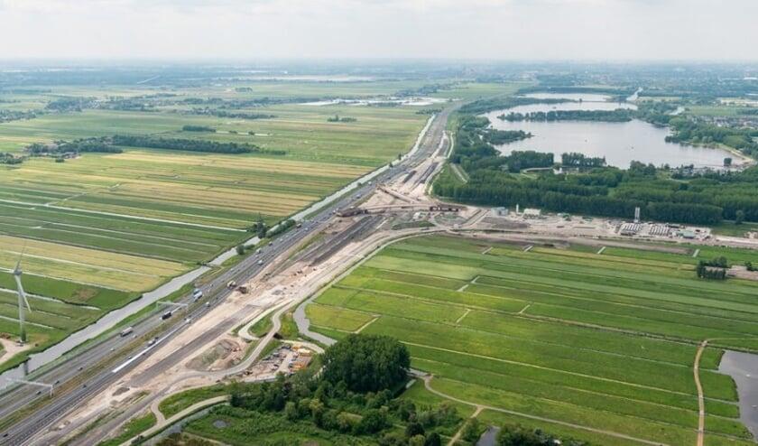 De A4 is de komende twee weekenden afgesloten richting Den Haag. Foto: Archief
