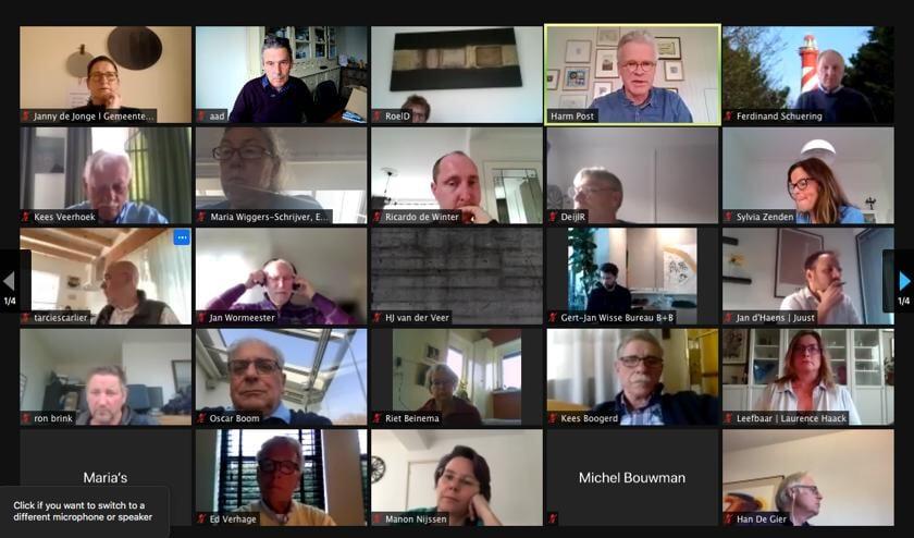 Meer dan 100 mensen deden mee aan de digitale vergadering voor Burgh-Haamstede