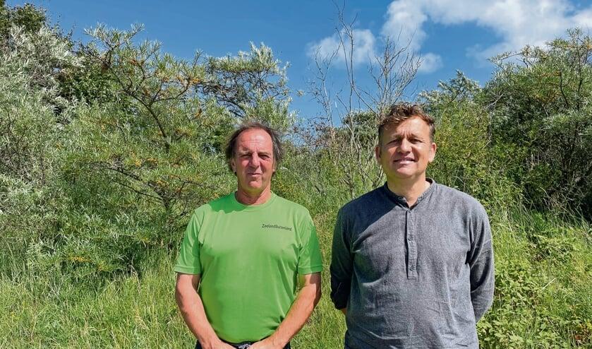 <p>Twee van de initiatiefnemers: Pieter de Haas (links) en Dennis Cleef.</p>