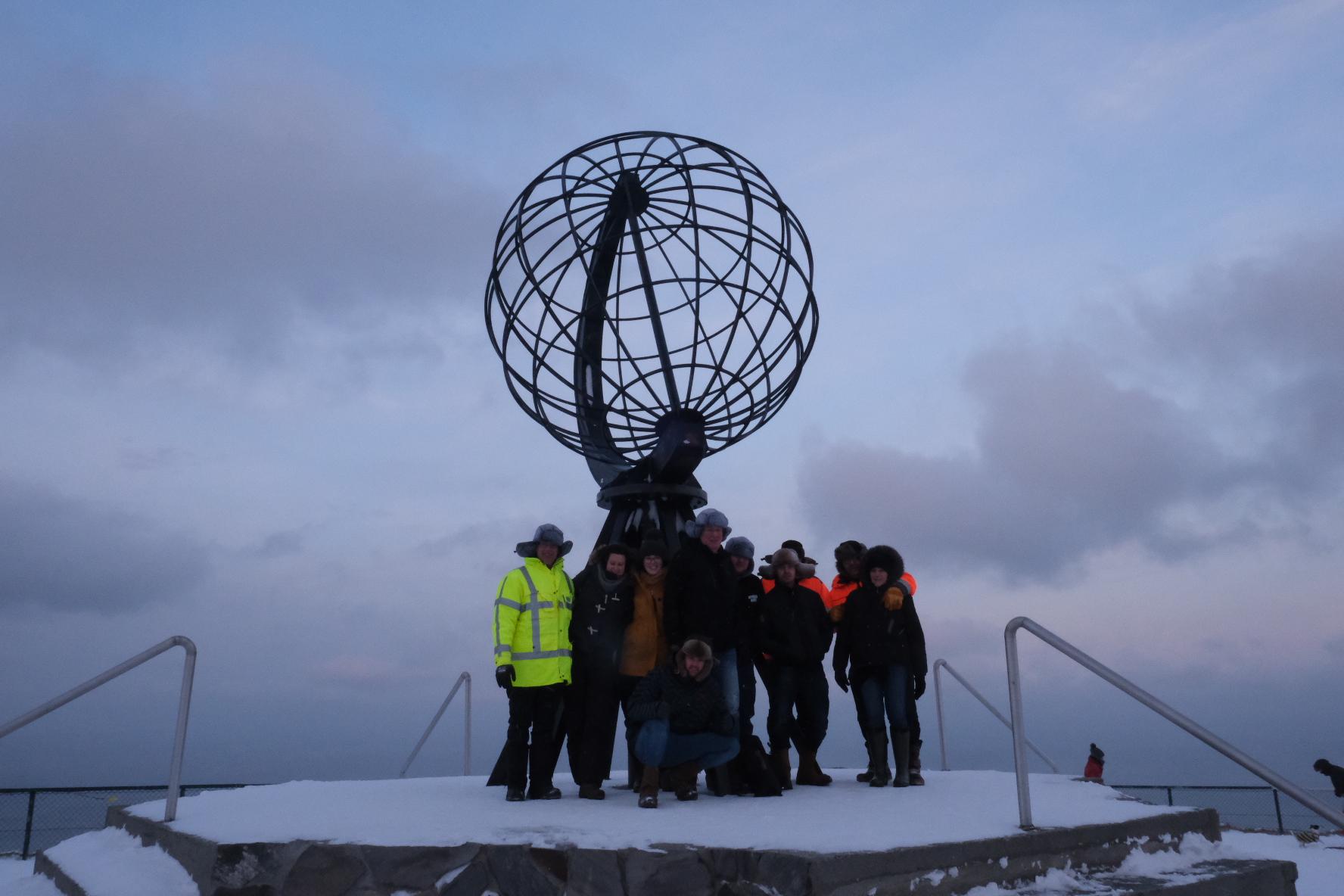 Tien Schouwen-Duivelanders op de Noordkaap