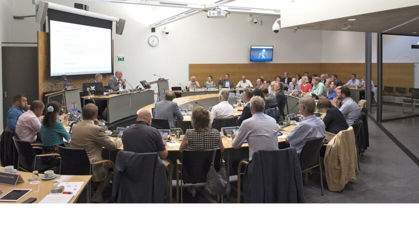 De huidige gemeenteraad. (Foto: Michel Groen)