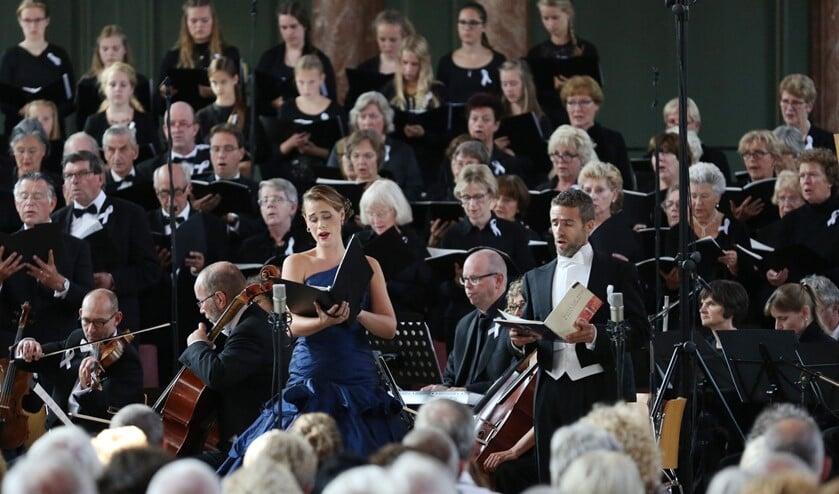 <p>Uitvoering van Corda Cantata, het concertkoor van Corda Vocale (archieffoto).</p>