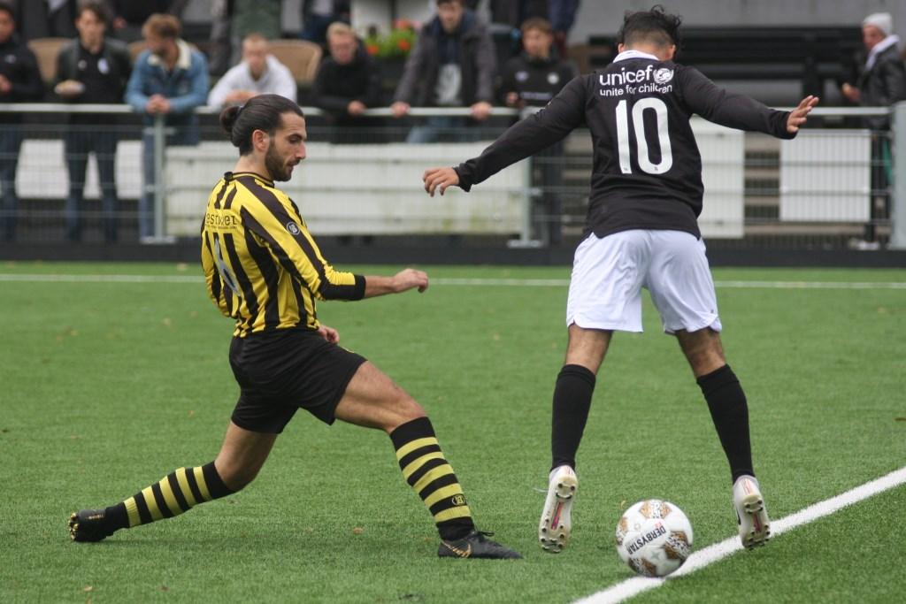Yuri Bruno (Wilhelmus) scoorde het enige doelpunt in de gestaakte wedstrijd tegen ASC (archieffoto: AW).  © Het Krantje