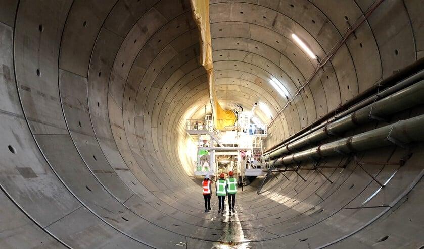 Het eerste stuk van de tunnelschacht waardoor de Rijnlandroute in de toekomst komt te lopen (foto: pr).