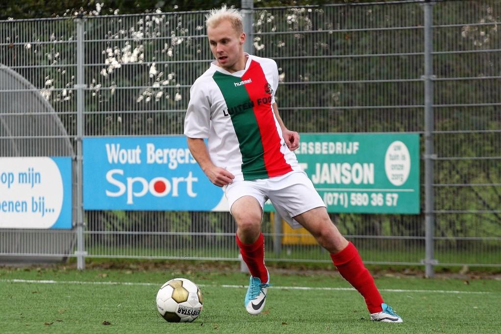 Nick Ammerlaan (Stompwijk'92) scoorde 2x tegen HWD (archieffoto: AW).  © Het Krantje
