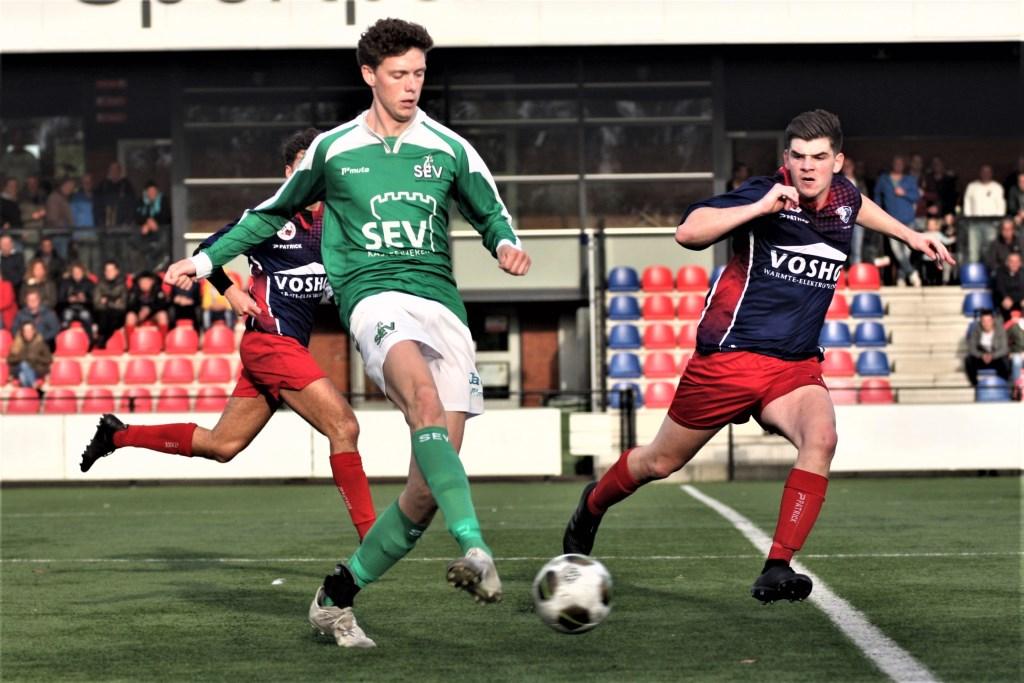 Niels van Houwelingen (SEV) debuteerde in het basiselftal en scoorde 0-3 (archieffoto: AW).  © Het Krantje