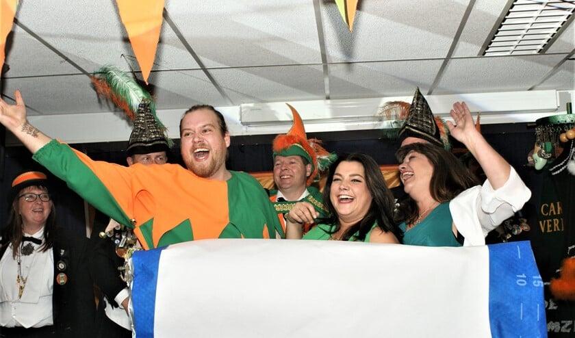 Bekendmaking van de nieuwe Prins Carnaval en zijn page vorig jaar tijdens het Prinsenbal (archieffoto Damzwabbers).