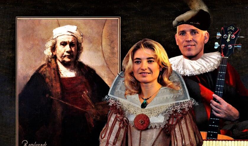 Muziekvoorstelling Rembrandt & de Gouden Eeuw met Hans Visser en Irena Filippova (foto: pr).