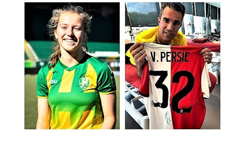 Lotte Langerak (RKAVV, ex-ADO MO17) scoorde & het laatste shirt van Robin v. Persie is vrijdagavond veilingkavel.