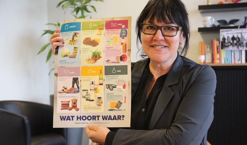 Hanneke van de Gevel heeft de afvaldumpingen onder controle gekregen. Nu nog terug naar maximaal 100 kilo restafval per persoon.