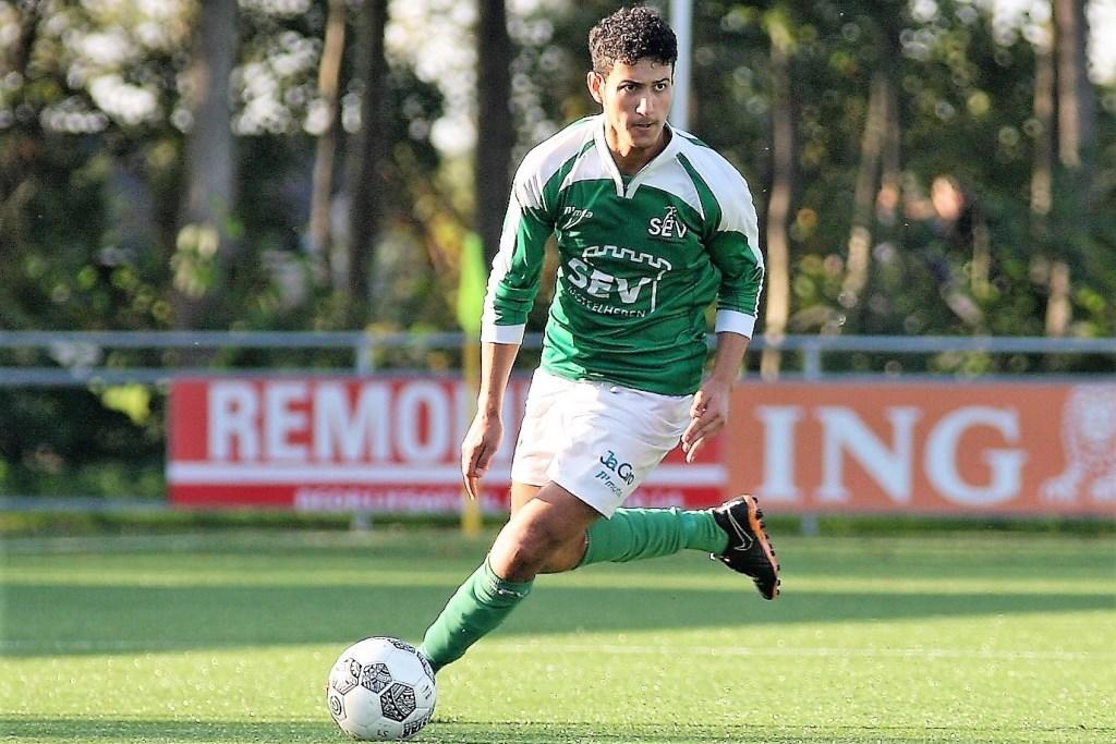 Hassan Bendahman (SEV) scoorde zaterdag 3x (archieffoto: AW).  © Het Krantje