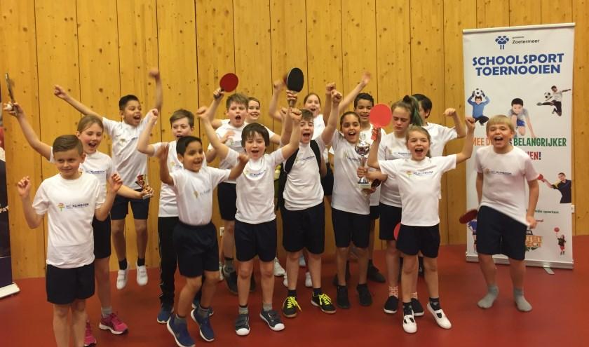 De deelnemers van de winnende school IKC De Klimboom. Foto: pr