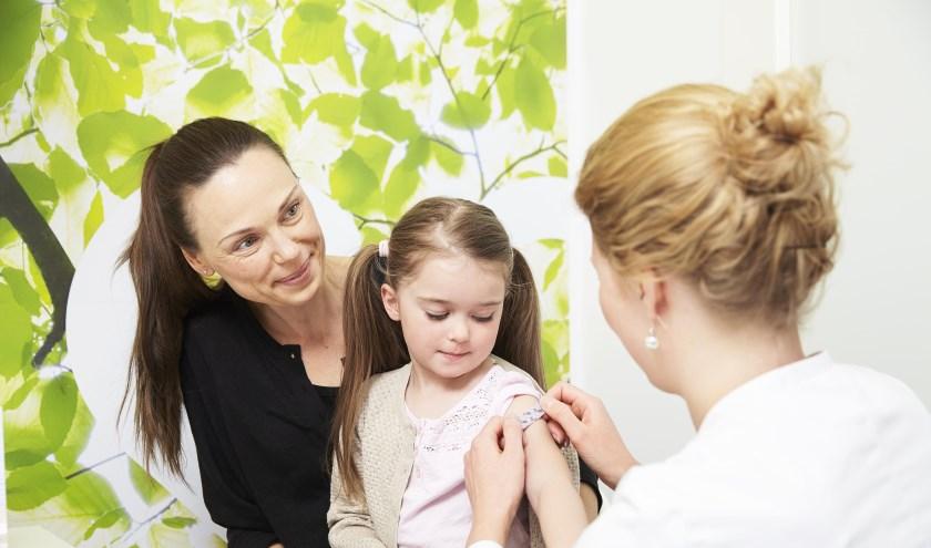 De meeste gebieden in regio Zuid-Holland West hebben een vaccinatiegraad van minstens 90% bij kinderen tot 10 jaar. Foto: pr