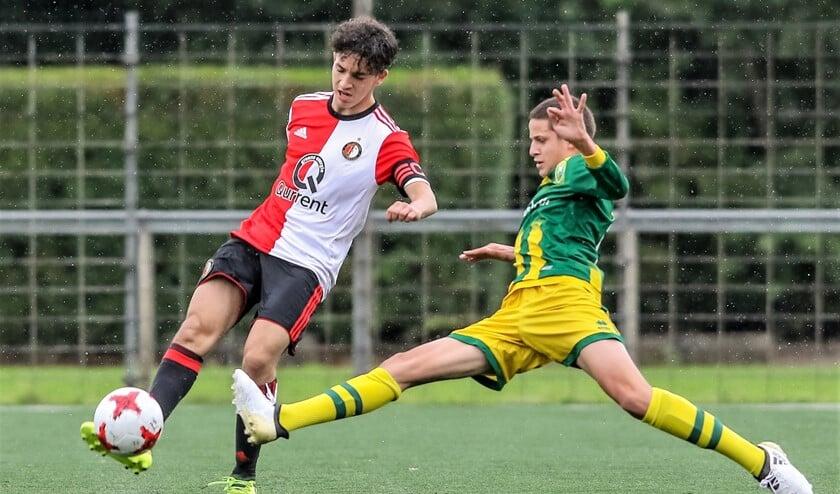 Edon Fetahi (v.a. 2019-2020 RKAVV) speelde in september 2017 nog bij Feyenoord (foto: Feyenoord-website).