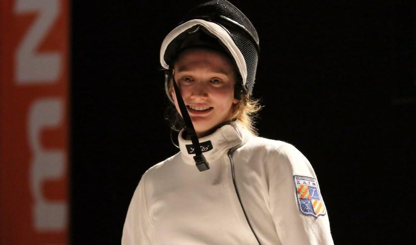 Schermster Kelly Boone is actief op het wereldkampioenschap van 14 tot 21 juli in Boedapest. Foto: Leon van Duivenvoorden