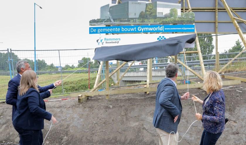 Gymworld wordt een herkenningspunt in de omgeving en een nieuw onderdeel van de 'skyline' van Zoetermeer. Foto: FOTOFLEX.NL