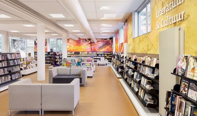 De moderne bibliotheek aan het Fluitpolderplein (archieffoto DJ).