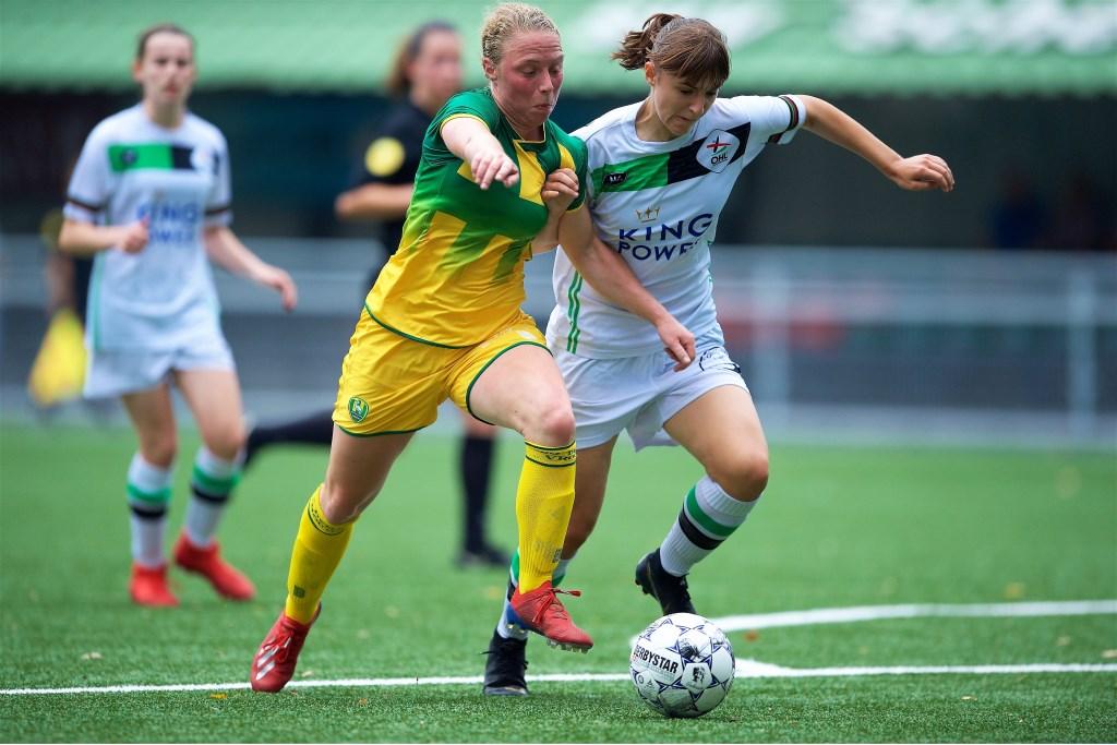Paola van der Veen scoorde zaterdagmiddag tegen Oud-Heverlee Leuven (foto: PR ADO Den Haag Vrouwen).  © Het Krantje