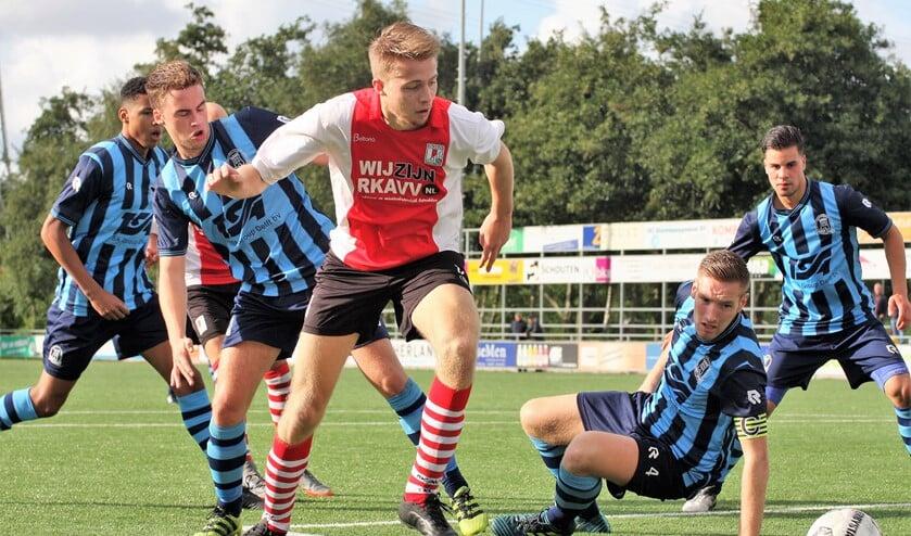 Archieffoto van het SPORT2000 Voetbal Kampioenschap LD-VB 2018. RKAVV-Forum Sport staat zaterdag opnieuw op het programma (foto: Alexander Wagener).