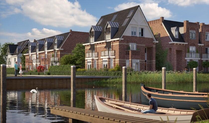 Ook de bouw van het Voorburgs Kwartier loopt vertraging op (Foto: voorburgskwartier.nl).