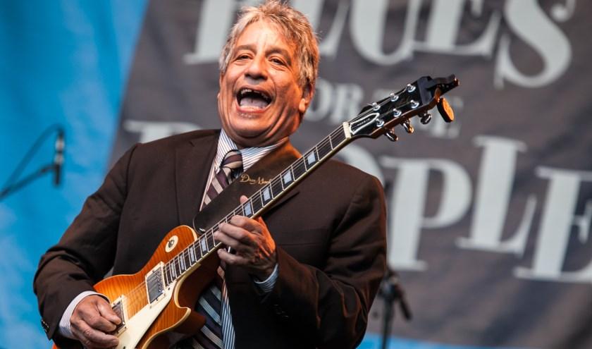 Chris Cain (USA) is een van de headliners op het JJ's Blues & Roots Festival. Foto:Bert Lek