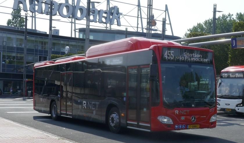 Buslijn 455 van EBS (R-Netlijn). Foto: Jan van Es