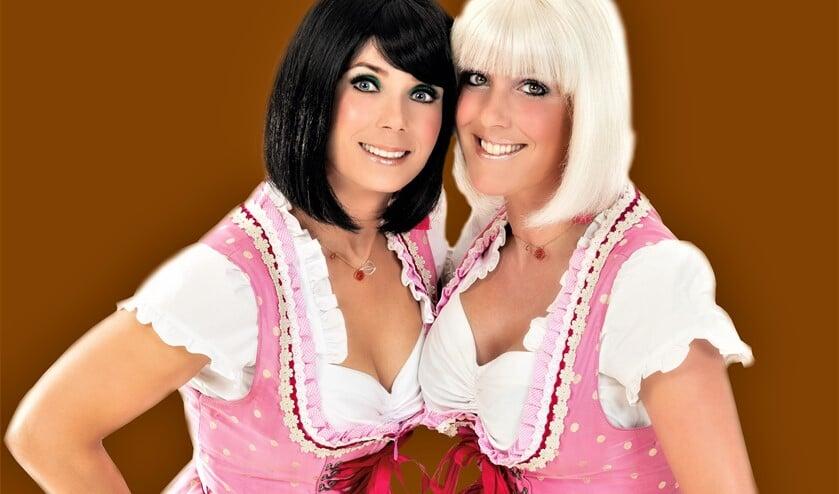 De Alpenzusjes Chantal van Geelen en Kirsten Stroek, bekend van allerlei schlagerfeesten, komen naar de Damzwabbers (foto: pr).