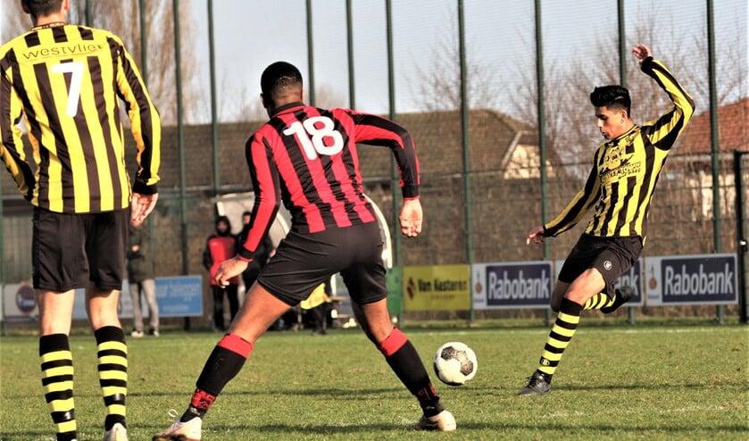 Nieuwkomer Amit Jagai (Wilhelmus) scoorde de 0-2 (archieffoto: AW).