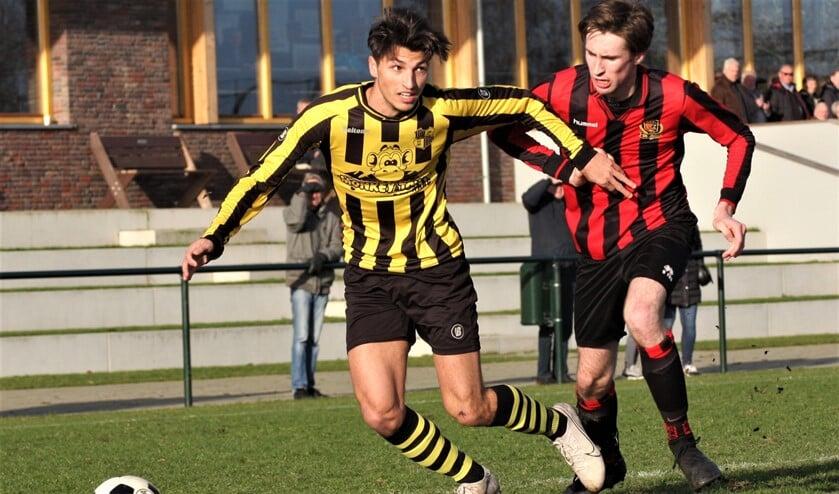 Jacky Adam (Wilhelmus) scoorde zondag uit een strafschop (archieffoto: AW).