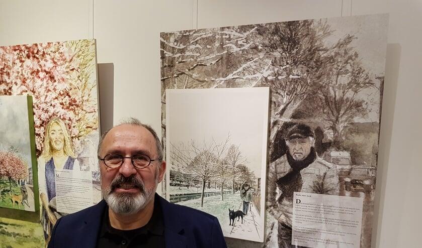 Jon Meibergen voor zijn kunstwerken in Museum Swaensteyn