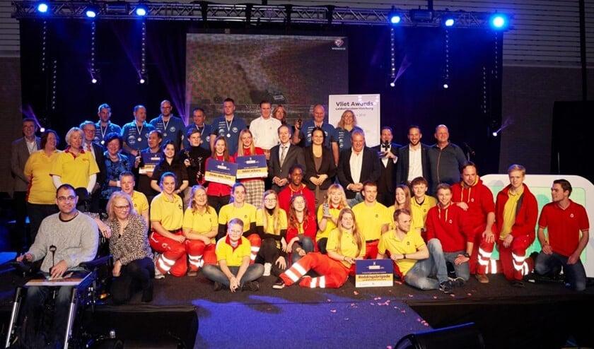De winnaars van de Vlietawards 2019 (foto: vlietawards.nl/ Dennis Morsch).