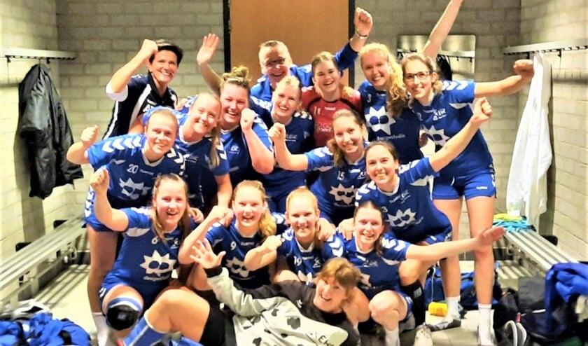 De dames van EHC hopen deze week al het kampioenschap binnen te halen (foto: pr).
