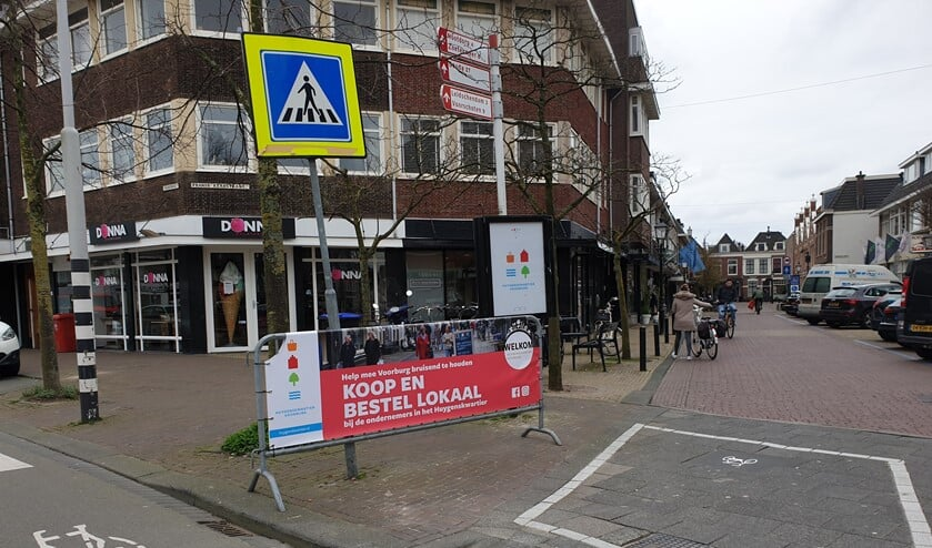Oproep om lokaal te kopen en t bestellen in het Huygenskwartier in Voorburg (foto: pr).