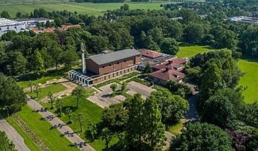 Het huidige hoofdgewouw op Schakenbosch, gezien vanuit de lucht (archieffoto).