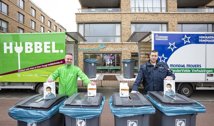 Stichting Transmurale zorg zamelt met Mondial Van der Velde Verhuizingen, Xtra Welzijn en ADO Den Haag mondkapjes in (foto: pr).