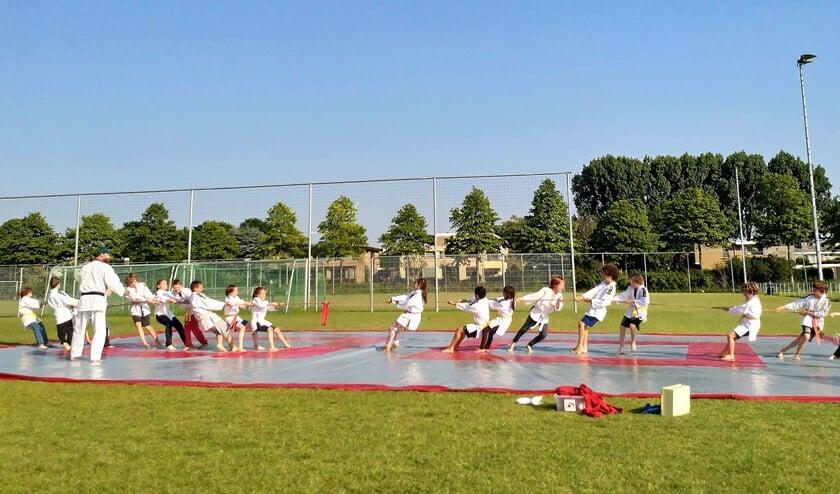 Buiten budo trainen in plaats van jaarlijks kamp met Hemelvaart (foto: pr).