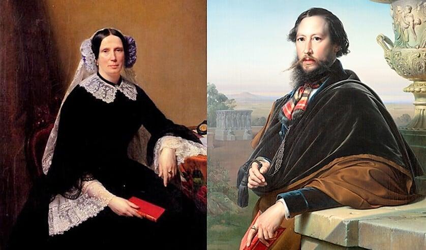 Prinses Marianne en Johannes van Rossum (foto: resp. Prinz von Hessen en Museum Swaensteyn).