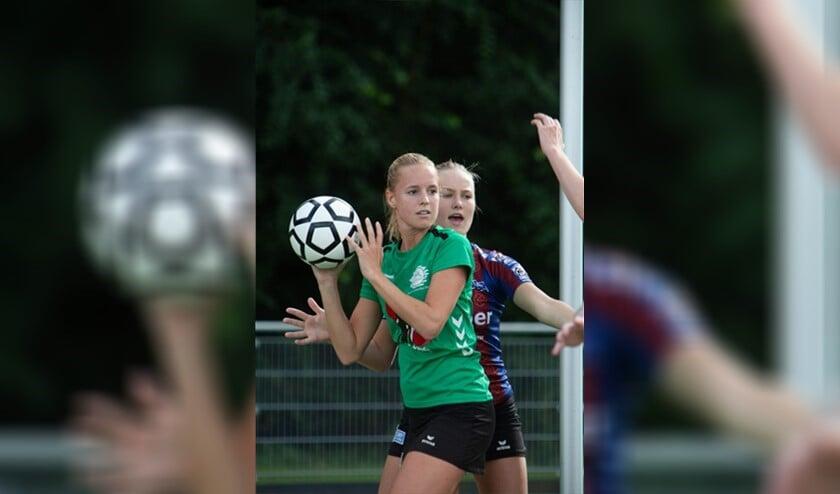 Nieuwkomer Larissa Nagtegaal nog in de kleuren van haar huidige club Paal Centraal, de studentenvereniging uit Delft (foto: pr).