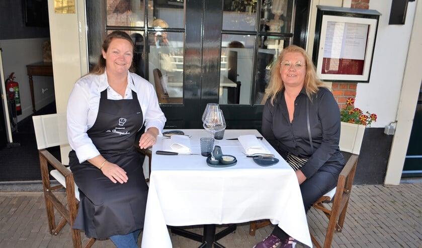 Ellen Kuijs van restaurant Le Barquichon en Yvette von Holtz van restaurant Eigenwijz (foto's: Inge Koot).