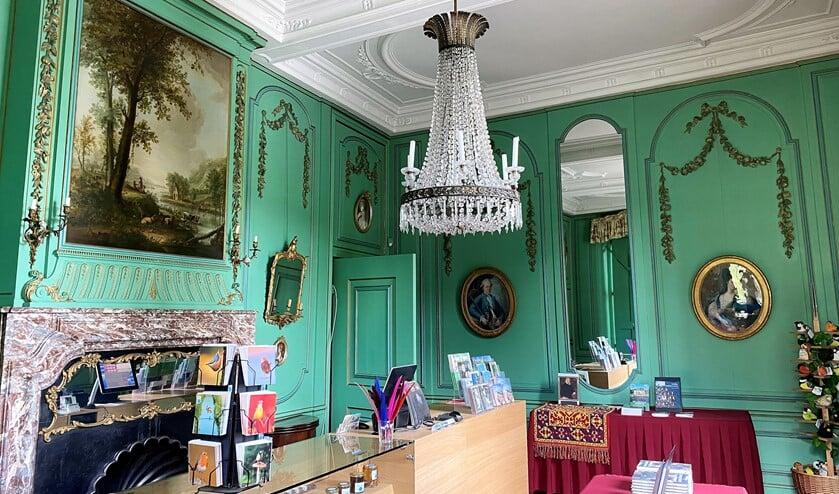 De Groene Salon in Kasteel Duivenvoorde. Vanaf 1 juni is het kasteel weer geopend voor publiek en zijn er weer rondleidingen (foto: pr).