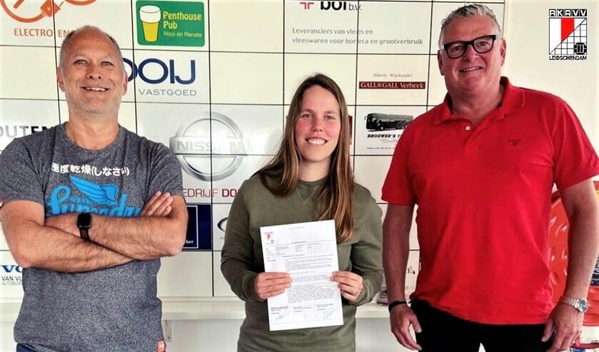 RKAVV Vrouwen hoofdtrainer Nikita van der Wijngaard tekende onlangs bij; ze zoekt collega's (foto: pr RKAVV).