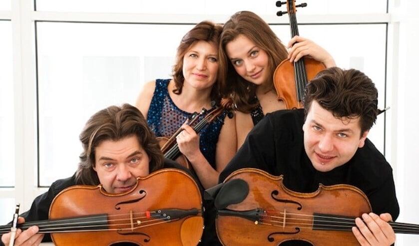 Het Zemtsov Viola Quartet geeft donderdag 9 juli om 16.00 uur een concert in de tuin van Huygens' Hofwijck. Entree: 10 euro (foto: pr).