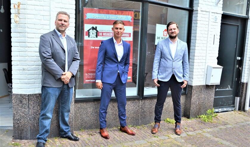Jeroen Oudshoorn, Dennis van Batum en Bas Holverda van De Wekker Makelaardij.